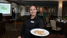 Fresh salmon and other delights where passed among the wedding professionals at Brookhaven Country Club.