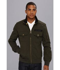 Authentic Apparel U.S. Army™ Admirals Aviator Jacket Olive Brush - Zappos.com Free Shipping BOTH Ways