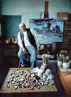 Karl Knaths. I cant believe he uses qualhog clam shells for his paints. Brilliant