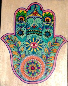➳➳➳☮American Hippie Bohemian Boho Bohéme Art - Hamsa