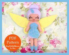 Fairy. Winter. Felt Doll. Felt pattern. PDF Pattern. Sewing pattern. Felt Crafts. Tinker Bell Movie.