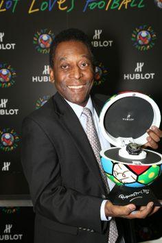 "Hublot and Pelé take ""Hublot Loves Football"" Global Campaign to Miami #hublotlovesfootball #hublot http://wp.me/p4zHON-1gc"