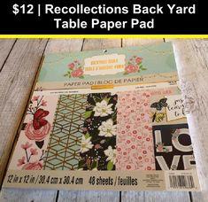 "Heartfelt Creations Double-sided Paper Pad 12/""x12/"" 24//pkg-backyard Blossoms 12"
