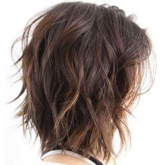 80 Sensational Medium Length Haircuts for Thick Hair - - Shoulder-Length Choppy Wavy Bob Medium Shag Haircuts, Layered Bob Hairstyles, Short Haircuts, Natural Hairstyles, Trendy Hairstyles, Braided Hairstyles, Popular Haircuts, Layered Haircuts For Medium Hair Choppy, Girl Hairstyles
