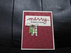 Christmas Greetings Thinlits, Christmas card