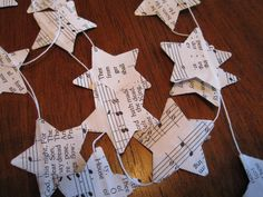 Punch these little stars out of Christmas music...