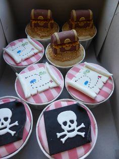 Cupcakes para tema de Jake e os Piratas da Terra do Nunca