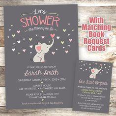 Elephant Baby Shower Invitation - Mommy to Be Shower Invitation - Elephant Invite by JustRightDesigns954 on Etsy https://www.etsy.com/listing/231201513/elephant-baby-shower-invitation-mommy-to