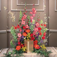 Summer Garden Urn Arrangement - Funeral Service
