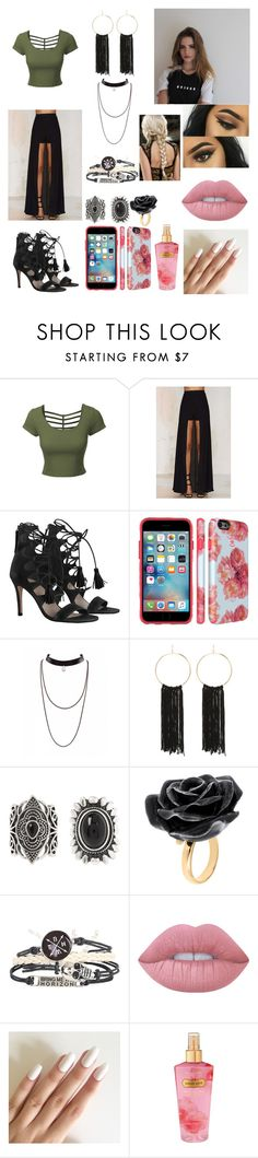 """Behati Lethood"" by ryanblue on Polyvore featuring moda, LE3NO, Lioness, Zimmermann, Bebe, New Look, Nach Bijoux, Lime Crime y Victoria's Secret"