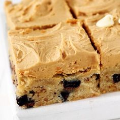 Peanut Butter Frosted White Chocolate Brownies