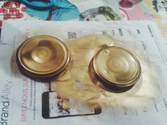 DIY Bocaux dorés