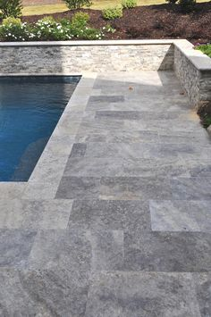 We supply very dense first choice travertine in a variety of shades. Check out our website or give me a call. Pool Paving, Swimming Pool Tiles, Swimming Pools Backyard, Pool Decks, Lap Pools, Indoor Pools, Backyard Pool Landscaping, Backyard Pool Designs, Modern Pool And Spa