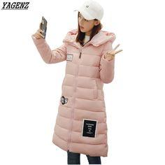 28.55$  Watch now - http://aliprz.shopchina.info/go.php?t=32808580652 - YAGENZ Women Basic Coats 2017 New Women's Winter Jacket Cotton Jacket Slim Elegant Ladies Hooded Warm Coats Plus Size M-3XL K224  #bestbuy