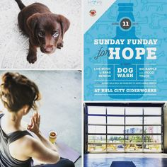 Q: Like #yoga? Cider? How about #dogs? A: @bullcitycidery is where you should be this Sunday #Durham! We are stoked to have our Sunday #Ciderworks #Yoga class taught by @bmcyoga enjoy a pint of #cider with you after (included in your ticket!) and then join in for the #doggie-related fun where every pint has $1 go to @hopeanimalrescue. . Live music by @artistericsweet human eats by @fetchhotdogco doggie treats by @hungrypawsmobiledogtreats and @barleylabs. See you at the cidery? . right…