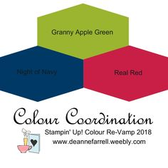 Granny Apple Green Colour Combo - Colour Inspiration Stampin' Up! Colour Re-Vamp 2018 #stampinupcolor #dlbcraft #stampinupdemonstrator