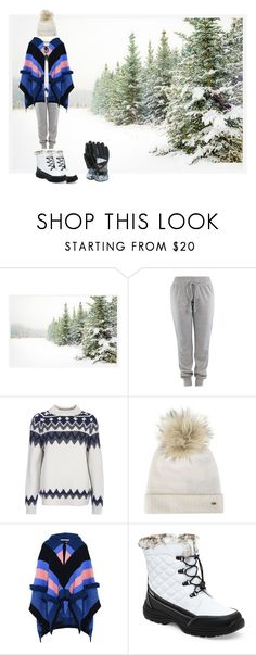 """""""Snowy, comfy clothes"""" by smileyamz ❤ liked on Polyvore featuring Pottery Barn, Barbour, Tommy Hilfiger, STELLA McCARTNEY, Totes and Roxy"""