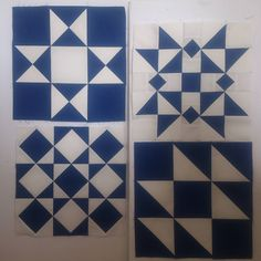 "47 Likes, 1 Comments - Grace (@gracesharpnz) on Instagram: ""And then there were 4...what block should I make next? #htwipit #blueandwhitequilt"""
