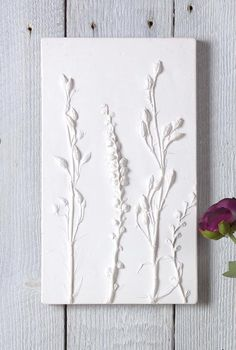 Plaster cast of meadow stems- Etsy Finds for Spring on NONAGON. Plaster Crafts, Plaster Art, Plaster Of Paris, Tuile, Paperclay, Simple Flowers, Botanical Art, Art Techniques, Clay Art