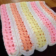 Crochet Baby Blanket Mile-A-Minute Baby Afghan - Free Pattern Crochet Crafts, Crochet Projects, Free Crochet, Crochet Bear, Crochet Animals, Crotchet, Crochet Toys, Crochet Mile A Minute, Crochet Baby Blanket Beginner