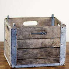 Got milk on pinterest milk dairy and milk crates for Where can i buy wooden milk crates