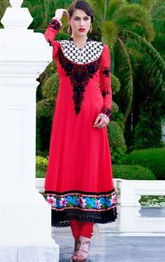 Picture of Contemporary Fuchsia Ethnic Salwar Kameez