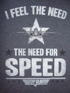 Top Gun de Superdry, siento la necesidad la necesidad de velocidad 80 s Retro Tee Película Tom Redondo | eBay