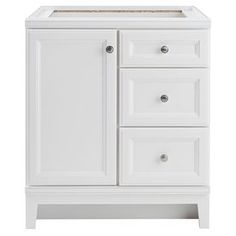 Diamond FreshFit Calhoun White Transitional Bathroom Vanity (Common: 30-in x 21-in; Actual: 30-in x 21-in)