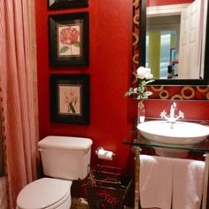 Your bathroom will see more visitors this holiday season, make it more inviting by adding fresh flowers or artwork. Fresh Flowers, Mirror, Bathroom, Interior, Holiday, Artwork, Furniture, Home Decor, Washroom