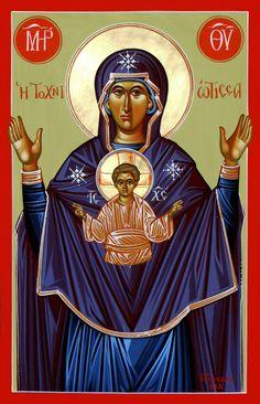 """ΜΡ.ΘΥ~ Η Τοχνιωτισσα"""" της ΚΥΠΡΟΥ---( Μιχαλης Χατζημιχαηλ; Byzantine; church icons; cyprus; iconography; Michael Hadjimichael; Orthodox; Avgorou; Αυγόρου;"""