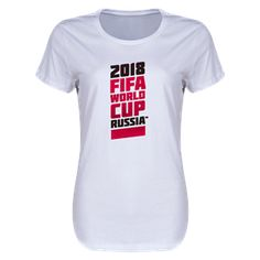 2018 FIFA World Cup Russia™ Women's Tee / WorldSoccerShop.com #WorldCup #FIFA #Soccer