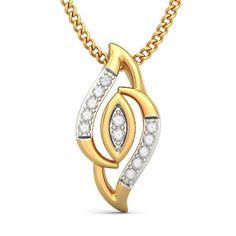 The Gowri Pendant | Diamond Pendant In 18Kt Yellow Gold