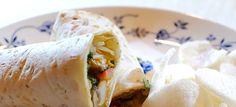 Saté-wraps met paksoi, paprika, champignons en kip