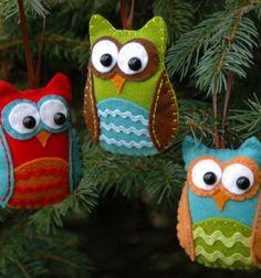 Karácsonyfadísz baglyok filcből / Mindy -  kreatív ötletek és dekorációk minden napra