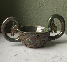 kjenge ale bowl Viking Dragon Bowl Quaich Drinking Bowl