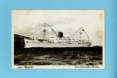 1950's Passenger_ship_ 'Angola'. Companhia Colonial de Navegacao was established in 1922 by Sociedade Agricola de Ganda, Companhia do Amboim de Angola and Ed. Guedes Ltda. to operate services from Portugal to Africa.