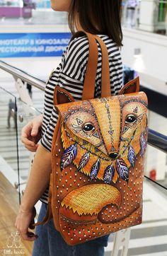 Leather Backpack 'Fox' | Кожаный рюкзак «Лиса» — Купить, заказать, рюкзак, кожа, натуральная кожа, лиса, ручная работа