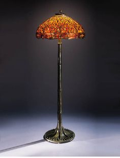 "Tiffany Floor Lamp Alluring Genuine Antique Tiffany Studios Floor Lampit Has A ""counter Design Inspiration"