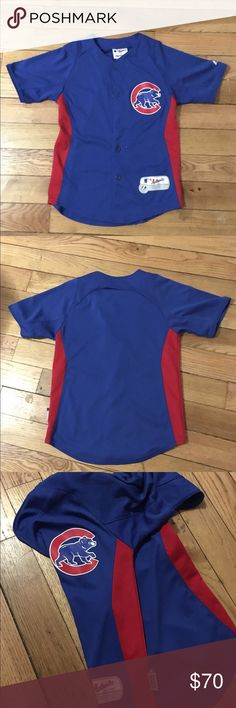 9cbb99b77 ️AUTHENTIC CUBS JERSEY Size:SMALL ‼ AUTHENTIC Cubs Jersey for women ‼  lightly worn ‼ Tops