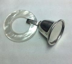 RA49 Vintage Sterling 925 Silver Baby Teething Ring Rattle Bell No Dings