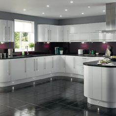 Similar space can look so different. Not suitable for us but a good example of the shape and size of our kitchen.
