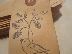 Distressed Gift Tags / Antiqued Cards / Nest / Bird by TeatroRosso, $4.99