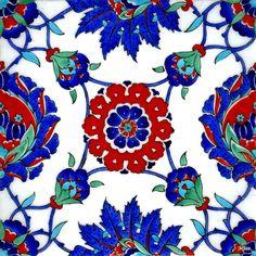 Iznik Ceramics & Iznik Tiles, Turkish Iznik Pottery, Hand painted Turkish ceramics and tiles, Wholesale Iznik ceramics gallery for sale. Turkish Art, Turkish Tiles, Art Nouveau, Quartz Tiles, Istanbul, Antique Tiles, Flower Canvas, Handmade Tiles, Victorian Art