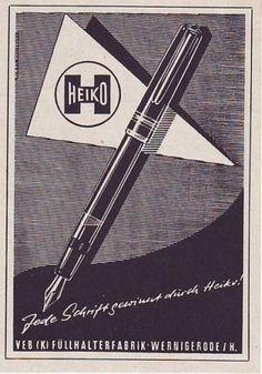 Alte-Werbeanzeige-Reklame-Heiko-VEB-K-Fuellhalterfabrik-Wernigerode-DDR