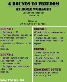 4 Rounds to Freedom at Home Workout - this was WAY harder than I anticipated!