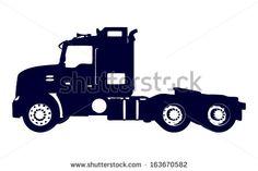 construction truck silhouette - Google Search