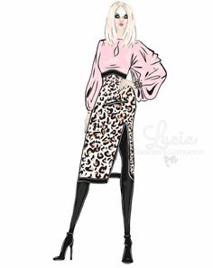 #BossBabe @lucia_illustrations| Be Inspirational ❥|Mz. Manerz: Being well dressed is a beautiful form of confidence, happiness & politeness