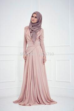 New-2015-A-line-High-Collar-Long-Sleeves-Champagne-Hijab-Underscarf-Dubai-Moroccan-Kaftan-Muslim-Evening.jpg
