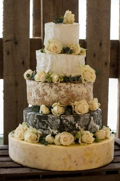 Cheese Wedding Cakes from The Fine Cheese Co. 4 Tier Wedding Cake, Wedding Dress Cake, Cool Wedding Cakes, Beautiful Wedding Cakes, Wedding Cakes Made Of Cheese, Unconventional Wedding Cake, Cheese Tower, Wedding Cheesecake, Italian Wedding Cakes