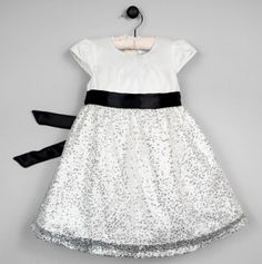 Dorothy White Dress with Sequins